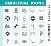set of 25 universal editable... | Shutterstock .eps vector #603517793