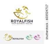 royal fish  vector logo template | Shutterstock .eps vector #603524717