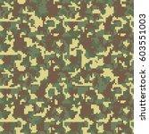 pixel camo. seamless camouflage ... | Shutterstock .eps vector #603551003