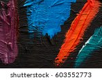 abstract painting background.... | Shutterstock . vector #603552773