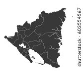 black nicaragua map with... | Shutterstock .eps vector #603554567