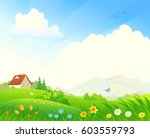 vector cartoon illustration of... | Shutterstock .eps vector #603559793