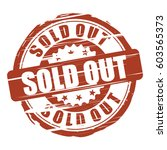 sold out grunge stamp. | Shutterstock . vector #603565373
