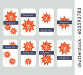 flower mandala visit cards | Shutterstock . vector #603593783