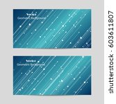 set of horizontal banners.... | Shutterstock .eps vector #603611807