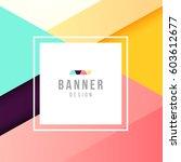 banner template. bright modern... | Shutterstock .eps vector #603612677