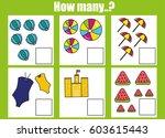 counting educational children... | Shutterstock .eps vector #603615443