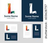 editable business card template ... | Shutterstock .eps vector #603628757