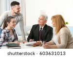 family consulting notary public ... | Shutterstock . vector #603631013