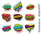 oops  discount. comics book set ... | Shutterstock .eps vector #603634097
