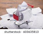 close up of a shopping cart...   Shutterstock . vector #603635813