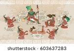 ancient maya  aztec inca.... | Shutterstock .eps vector #603637283