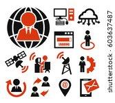 social media  social community... | Shutterstock .eps vector #603637487