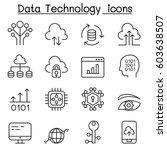 data technology  database ... | Shutterstock .eps vector #603638507