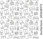 furniture seamless pattern.... | Shutterstock . vector #603638573
