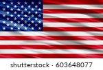 usa flag background | Shutterstock . vector #603648077