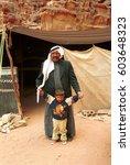 wadi rum  jordan   january 7 ... | Shutterstock . vector #603648323