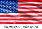 usa flag background | Shutterstock . vector #603652373