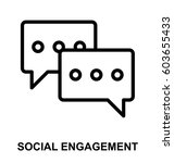 social engagement line icon  | Shutterstock .eps vector #603655433