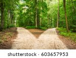 two ways  choose the way. | Shutterstock . vector #603657953