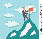 leadership. concept business...   Shutterstock .eps vector #603658127