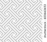 vector seamless pattern. modern ... | Shutterstock .eps vector #603663653