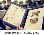 homemade food menu recipe... | Shutterstock . vector #603671753