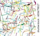 random  chaotic lines artistic... | Shutterstock .eps vector #603679817