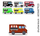 car food truck vector | Shutterstock .eps vector #603687923