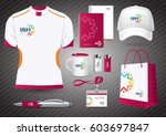 gift items  color promotional... | Shutterstock .eps vector #603697847