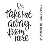 travel life style romantic love ... | Shutterstock .eps vector #603705473
