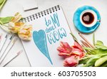 mothers day greeting card with... | Shutterstock . vector #603705503