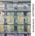 vintage architecture facade... | Shutterstock . vector #603708563