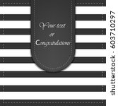 greeting card with striped... | Shutterstock .eps vector #603710297