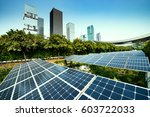 solar panels in the city | Shutterstock . vector #603722033