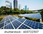 solar panels in the city | Shutterstock . vector #603722507