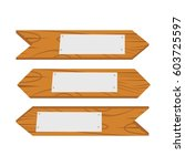 wood sign icon cartoon isolated ...   Shutterstock .eps vector #603725597