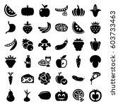 Vegetarian Icons Set. Set Of 3...