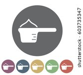 washing powder icon.vector... | Shutterstock .eps vector #603735347