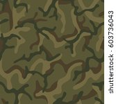 seamless camouflage pattern.... | Shutterstock .eps vector #603736043