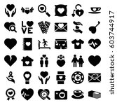 heart icons set. set of 36... | Shutterstock .eps vector #603744917
