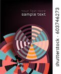 abstract geometric circles... | Shutterstock .eps vector #603746273