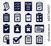 checklist icons set. set of 16... | Shutterstock .eps vector #603746507