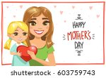 happy mother's day card  or... | Shutterstock .eps vector #603759743