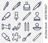 ink icons set. set of 16 ink... | Shutterstock .eps vector #603784367