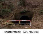 Small photo of The ruins : Abolished tunnel of Akiu electric railway,Sendai,Japan.