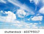 design element. 3d illustration.... | Shutterstock . vector #603795017