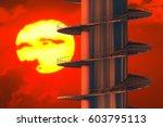 design element. 3d illustration.... | Shutterstock . vector #603795113