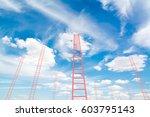 design element. 3d illustration.... | Shutterstock . vector #603795143