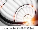 design element. 3d illustration.... | Shutterstock . vector #603795167